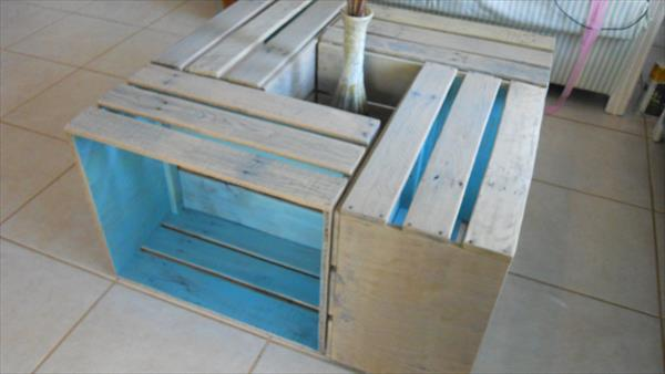 DIY Pallet Crate Coffee Table 101 Pallets