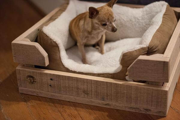 Diy Pallet Pet Bed Pallet Dog Bed 101 Pallets
