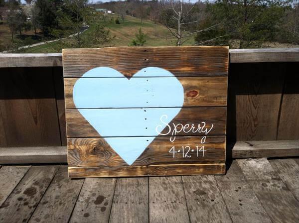 DIY Pallet Sign Art Wedding Gift
