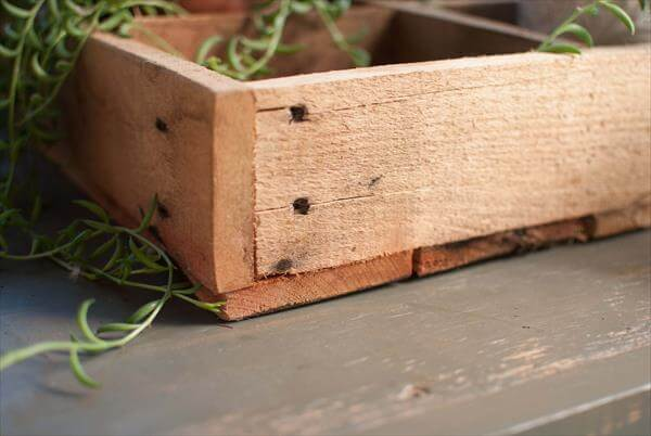 diy pallet wooden crate