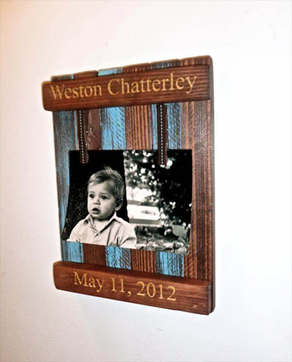 diy wooden pallet picture frame diy recycled pallet picture frame diy ...
