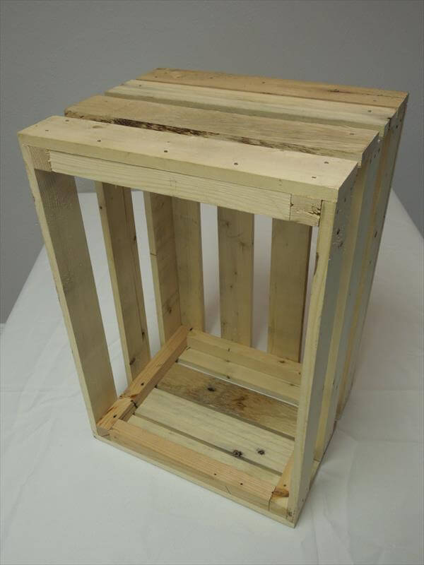 DIY Pallet Wooden Storage Crate Box 101 Pallets