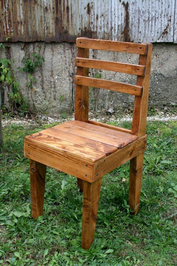 Adirondack Chair Footstool Plans DIY Rustic Wooden Pallet Chairs | 101 Pallets