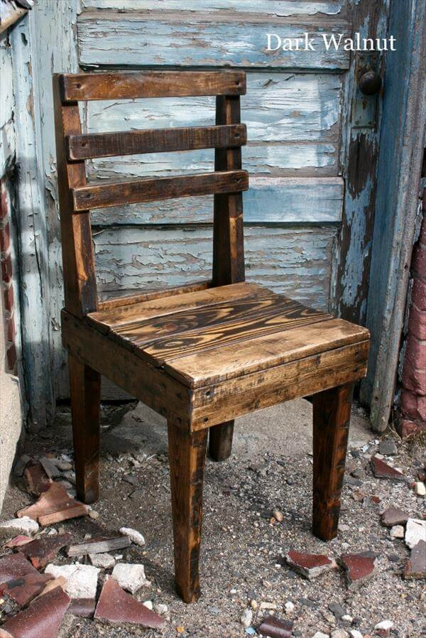 Diy Rustic Wooden Pallet Chairs 101 Pallets