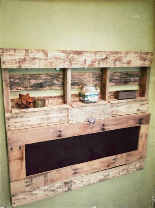 DIY Pallet Fold able Desk With Shelves 101 Pallets