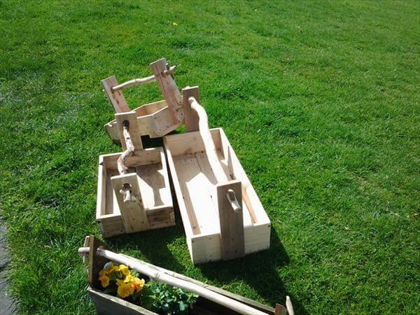 diy pallet garden tool boxes