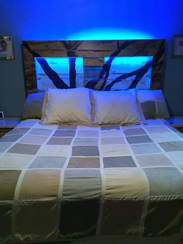 king headboard with lights 2