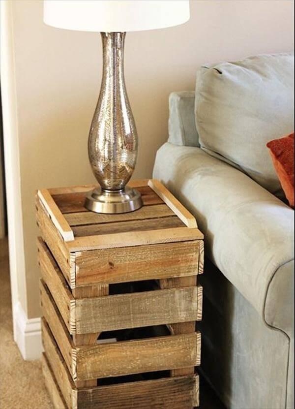DIY Antique Pallet Side Table Ideas | 101 Pallets