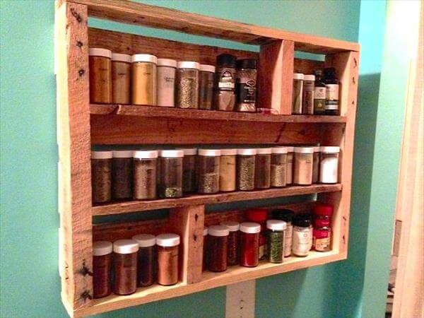 DIY Pallet Wood Spice Rack : 101 Pallets