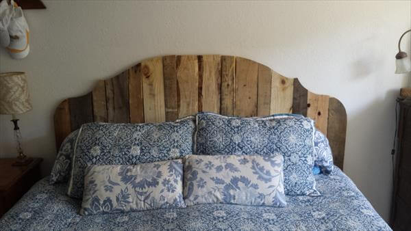 king size headboard wall art reclaimed pallet king size headboard ...