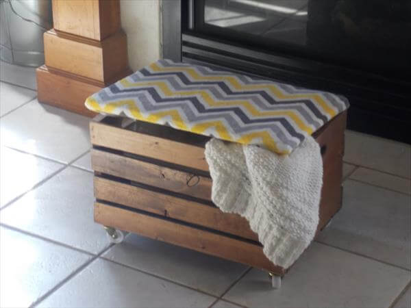 recycled crate ottoman
