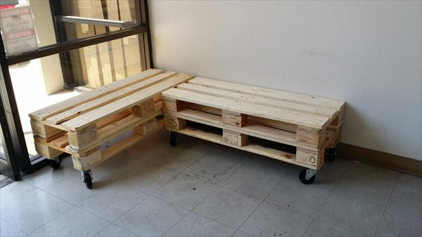 L Shaped Pallet Wood Bench 101 Pallets