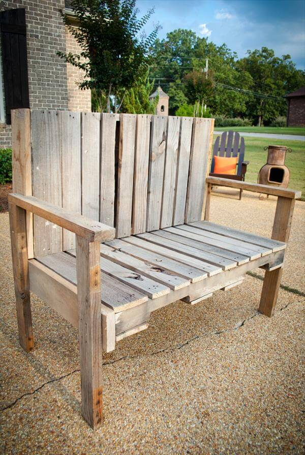 Diy Pallet Wood Bench 101 Pallets