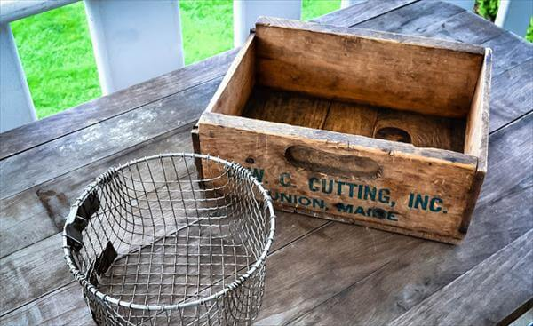 upcycled pallet coffee pod