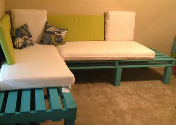 upcycled pallet sectional bed