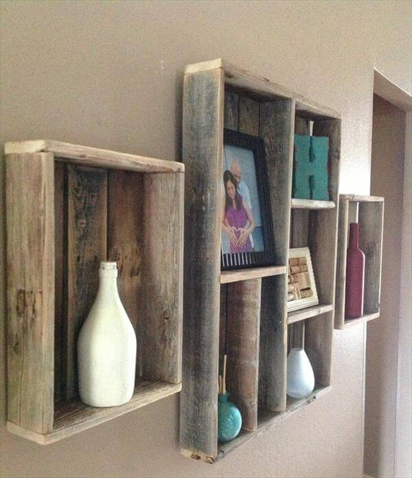 Pallet Shelves Ideas: Pallet Wall Shelves Ideas