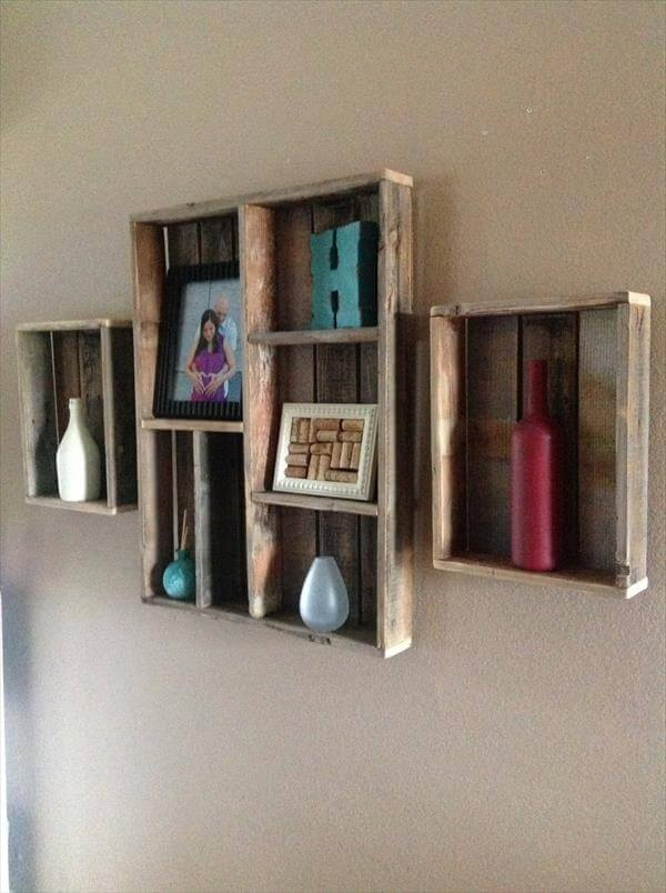 ... shelf diy rustic pallet wall shelf diy pallet rustic wall shelf wood