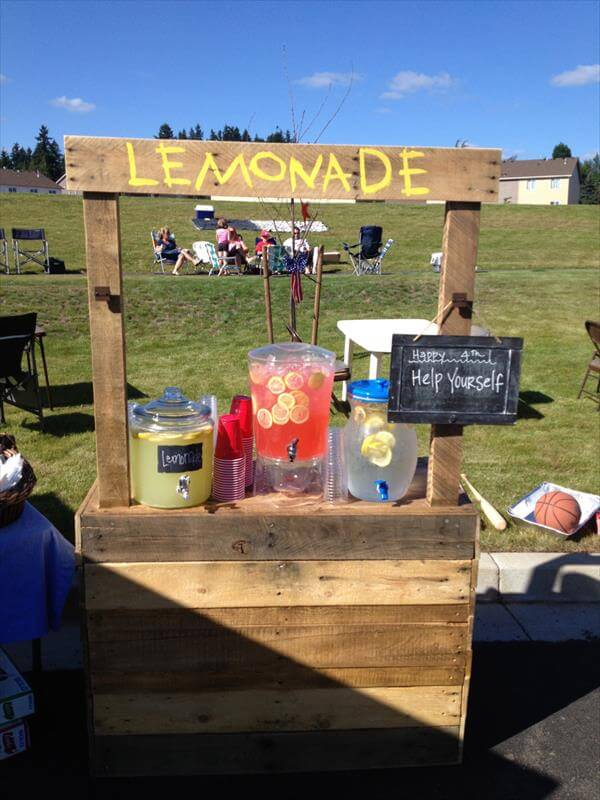 Diy Pallet Lemonade Stand 101 Pallets