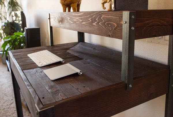 Metal Legs / Sofa Table Pallet Office Desk / DIY Computer Desk DIY ...