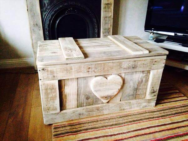 Shabby Chic Pallet Toy Box 101 Pallets