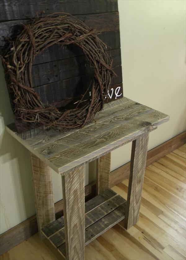 Rustic Pallet End Table | 101 Pallets