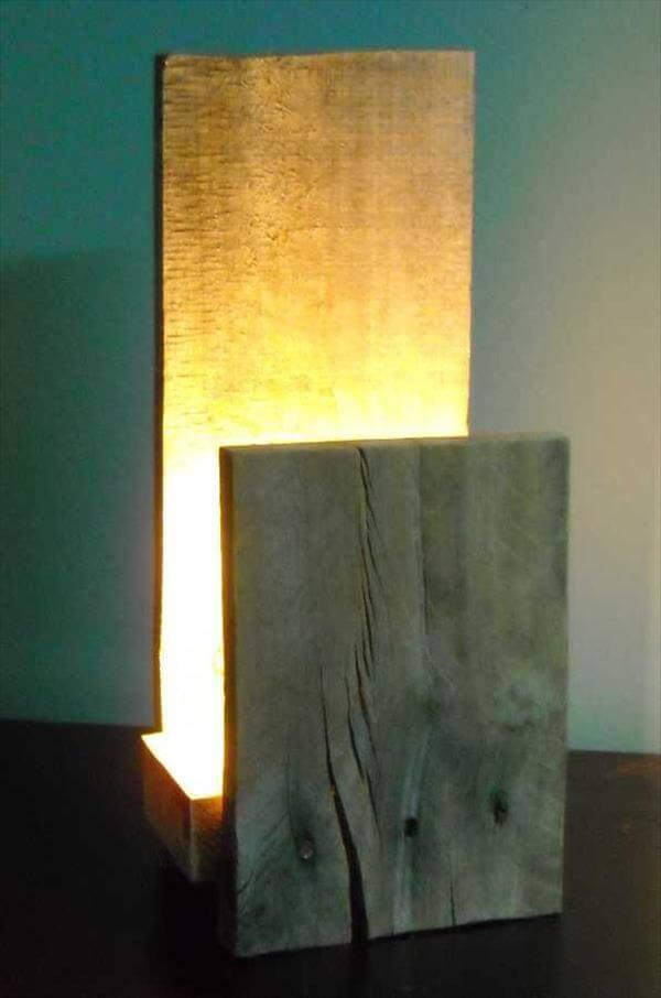 Diy Pallet Table Lamp Accent 101 Pallets
