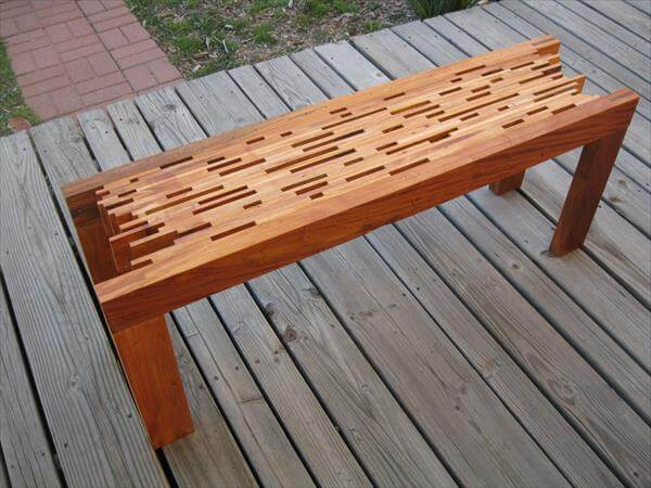 ... Pallet Bench DIY Pallet Farmhouse Bench – Front Porch Bench