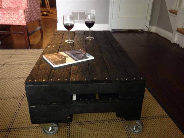 diy industrial pallet outdoor table pallet coffee table with glass top ...