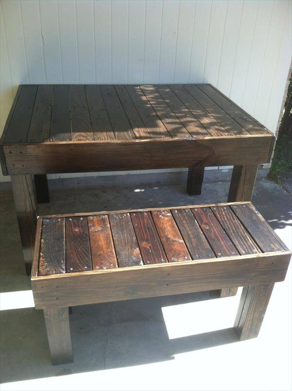 Dining Table Pallet Patio Dining Set Diy Pallet Outdoor Dining Table