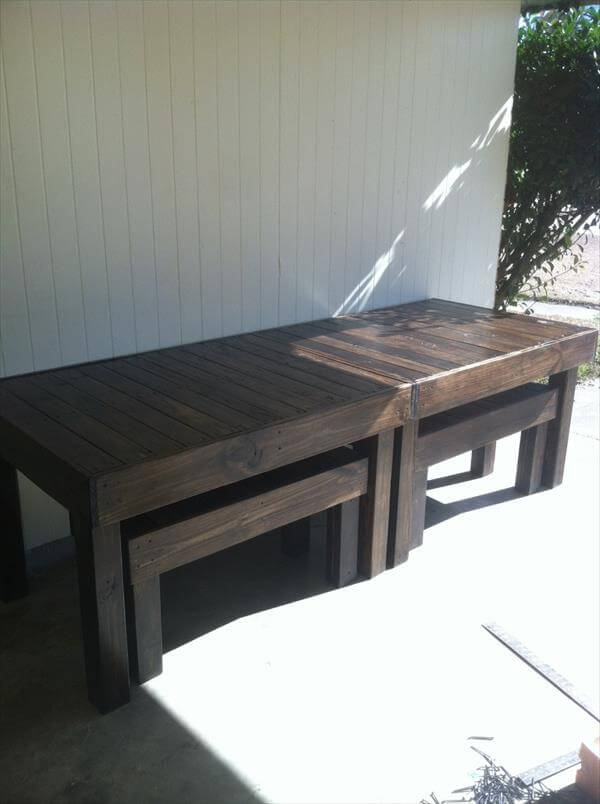 Diy Wooden Pallet Dining Table Peter C Scott