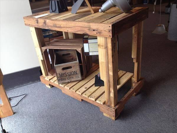 DIY Pallet Kitchen Bar Island | 101 Pallets