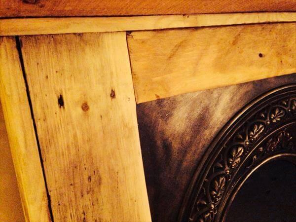 Diy Pallet Wood Mantle Piece 101 Pallets