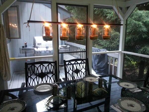 DIY Simple Pallet Mason jar Chandelier – Mason Jar Chandelier Diy