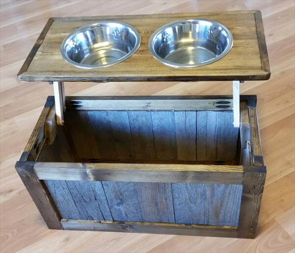 ... dog bowl stand diy pallet dog bowl stand diy personalized pallet dog