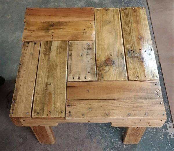 Diy miniature pallet table 101 pallets - Building furniture out of reclaimed wood ...