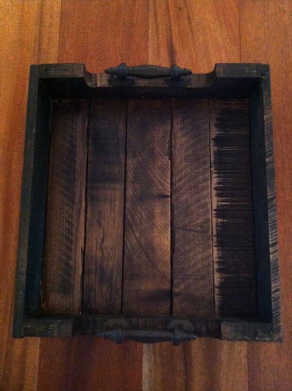 Diy Vintage Pallet Serving Tray 101 Pallets