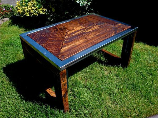 Pallet Industrial Coffee Table   Pallets