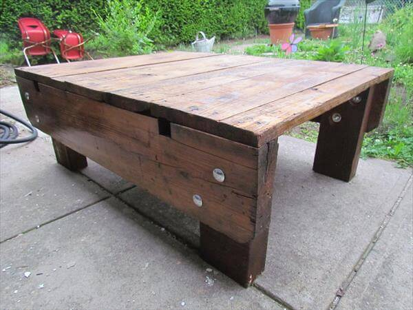 diy industrial pallet coffee table