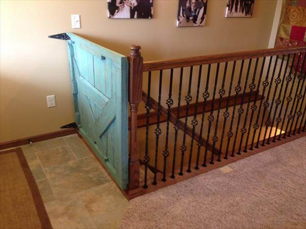 Diy Pallet Baby Gate For Stairs 101 Pallets