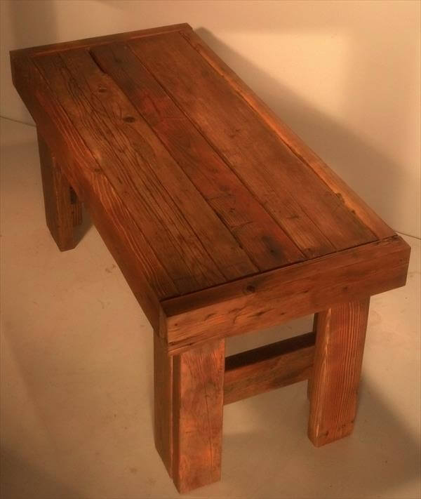 diy reclaimed pallet wood coffee table 101 pallets. Black Bedroom Furniture Sets. Home Design Ideas