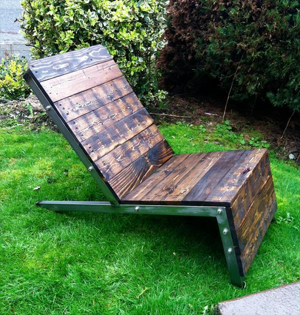 DIY Industrial Pallet Adirondack Chair : 101 Pallets