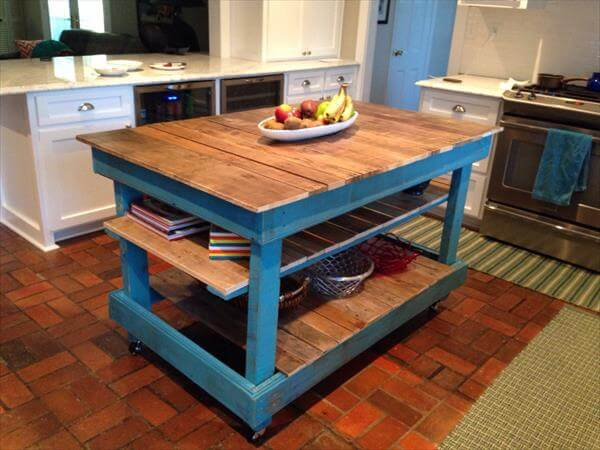 DIY Pallet Kitchen Island Or Hutch TV Stand 101 Pallets