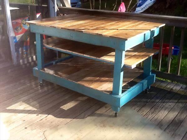 Diy Kitchen Island Pallet diy pallet kitchen island/ buffet table   101 pallets