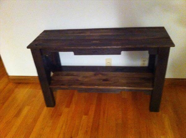 Diy pallet table and tv stand 101 pallets for Table under tv