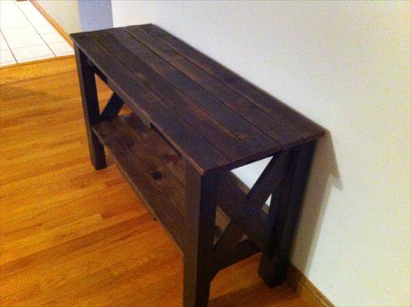 DIY Pallet Table And TV Stand 101 Pallets