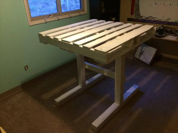 DIY Wooden Pallet Computer Desk | 101 Pallets