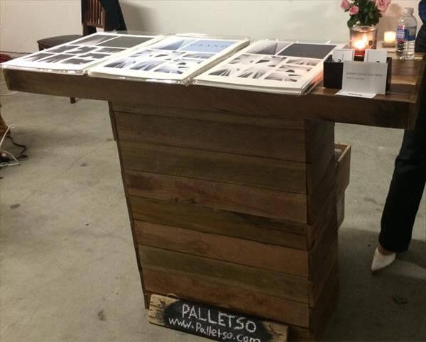 Diy Pallet Kitchen Cart On Wheels 101 Pallets
