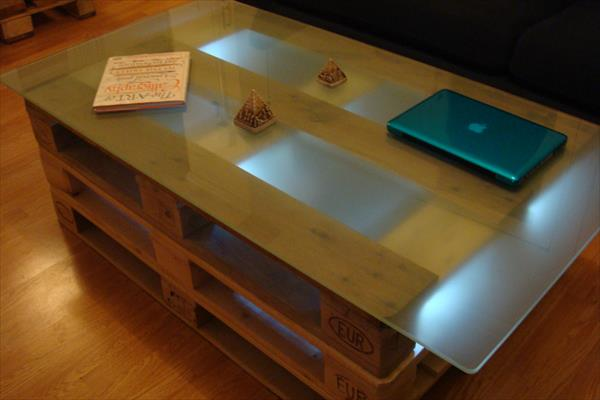 diy pallet coffee table with removable legs | 101 pallets