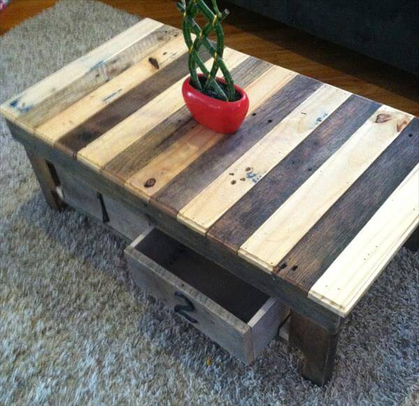 chevron pallet coffee table with storage sturdy pallet coffee table ...
