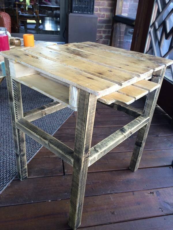Coffee Table With Wheels DIY Custom Pallet Wood Coffee Table DIY